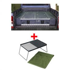 1300mm Titan Drawer System Suitable for Utes + Wings For 1300mm Titan Drawers + Adventure Kings Camp Fire BBQ Plate