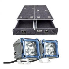 "1300mm Titan Drawer System Suitable for Utes + 3"" LED Work Light - Pair"