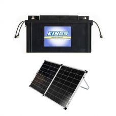 138Ah AGM Deep-Cycle Battery + Kings Premium 160w Solar Panel with MPPT Regulator