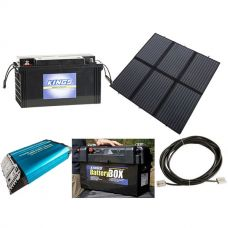 Adventure Kings 200W Solar Blanket with MPPT + 138Ah AGM Deep-Cycle Battery + 1500W Pure Sine Wave Inverter + Maxi Battery Box + 10m Lead For Solar Panel Extension