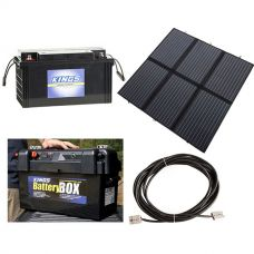 Adventure Kings 200W Solar Blanket with MPPT + 138Ah AGM Deep-Cycle Battery + Maxi Battery Box + 10m Lead For Solar Panel Extension