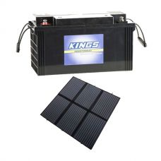 Adventure Kings 200W Solar Blanket with MPPT + AGM Deep Cycle Battery 115AH