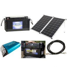 Adventure Kings 250w Solar Panel + 138Ah AGM Deep-Cycle Battery + 1500W Pure Sine Wave Inverter + Maxi Battery Box + 10m Lead For Solar Panel Extension