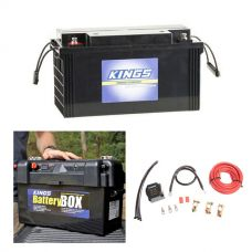Adventure Kings 138Ah AGM Deep-Cycle Battery + Maxi Battery Box + Dual Battery System