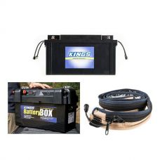 138Ah AGM Deep-Cycle Battery + Adventure Kings Maxi Battery Box + LED Strip Light