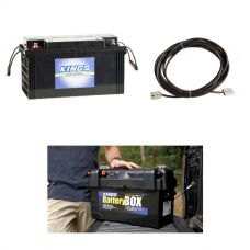 138Ah AGM Deep-Cycle Battery + Maxi Battery Box + 10m Lead For Solar Panel Extension