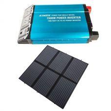 Adventure Kings 200W Solar Blanket with MPPT + 1500W Pure Sine Wave Inverter