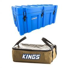 Adventure Kings 156L Storage Box + Clear Top Canvas Bag