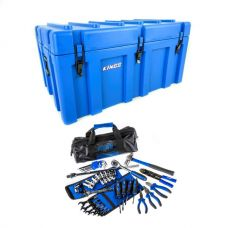 Adventure Kings 156L Storage Box + Essential Bush Mechanic Toolkit