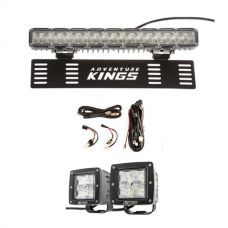 "15"" Numberplate LED Light Bar + Plug N Play Smart Wiring Harness Kit + 3"" Work Lights (Pair)"