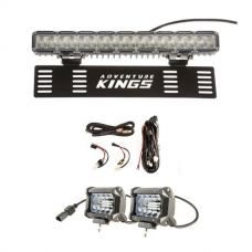 "15"" Numberplate LED Light Bar + Plug N Play Smart Wiring Harness Kit + 4"" LED Light Bar"