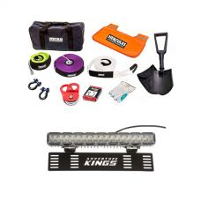 """15"""" Numberplate LED Light Bar + Hercules Complete Recovery Kit"""