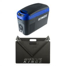 Kings 15L Console Fridge + Portable Steel Fire Pit