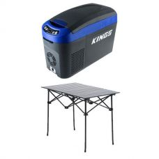 15L Centre Console Fridge/Freezer + Kings Portable Alloy Camping Table