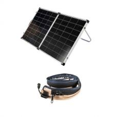 Kings Premium 160w Solar Panel with MPPT Regulator + LED Strip Light