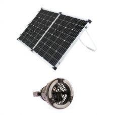 Adventure Kings 160w Solar Panel + 2in1 LED Light & Fan