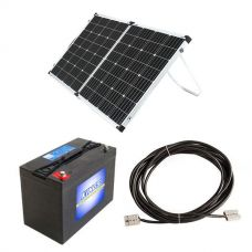 Adventure Kings AGM Deep Cycle Battery 115AH + Adventure Kings 160w Solar Panel + 10m Lead For Solar Panel Extension