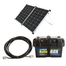 Adventure Kings 160w Solar Panel + Battery Box + 10m Lead For Solar Panel Extension