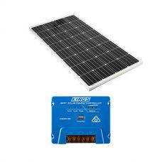 Adventure Kings 160w Fixed Solar Panel + MPPT Solar Regulator