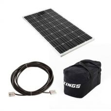 Adventure Kings 160w Fixed Solar Panel + 10m Lead For Solar Panel Extension + 40L Duffle Bag