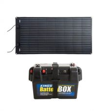 Adventure Kings 160W Semi-Flexible Solar Panel + Battery Box