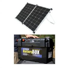 Adventure Kings 160w Solar Panel + Maxi Battery Box