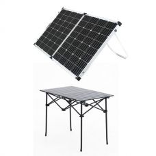 Adventure Kings 160w Solar Panel + Kings Portable Alloy Camping Table