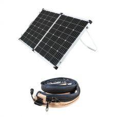Adventure Kings 160w Solar Panel + LED Strip Light