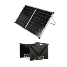 Kings Premium 160w Solar Panel with MPPT Regulator + Kings Portable Steel Fire Pit