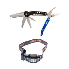 Adventure Kings 18-in-1 Multi-Tool + Illuminator LED Head Torch