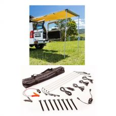 Adventure Kings Rear Awning - 1.4 x 2m + Illuminator 4 Bar Camp Light Kit