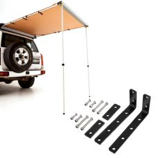 Adventure Kings Rear Awning 1.4 x 2m + Awning Mounting Brackets (Pair)