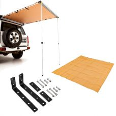 Adventure Kings Rear Awning 1.4 x 2m + Awning Mounting Brackets (Pair) + Mesh Flooring 3x3m