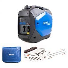 Adventure Kings 2.0kVA Inverter Generator + 2KVA Generator Cover + Illuminator 4 Bar Camp Light Kit + Camp Light Extension