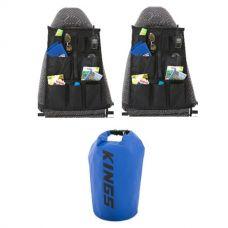 Adventure Kings 15L Dry Bag + 2x Car Seat Organiser