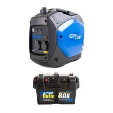 Adventure Kings 2.0kVA Inverter Generator + Battery Box