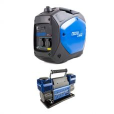 Adventure Kings 2.0kVA Inverter Generator + Thumper Max Dual Air Compressor MkII