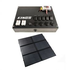 12V Control Box + Adventure Kings 200W Portable Solar Blanket