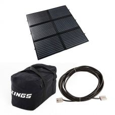 Adventure Kings 200W Portable Solar Blanket + 40L Duffle Bag + 10m Lead For Solar Panel Extension