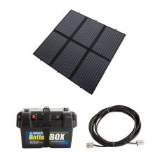 Adventure Kings 200W Solar Blanket with MPPT + Battery Box + 10m Lead For Solar Panel Extension