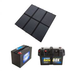 Adventure Kings 200W Solar Blanket with MPPT + AGM Deep Cycle Battery 115AH + Battery Box