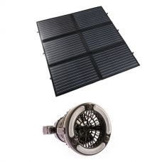 Adventure Kings 200W Portable Solar Blanket + 2in1 LED Light & Fan