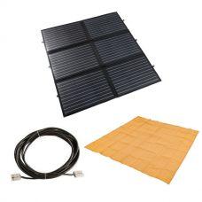 Adventure Kings 200W Portable Solar Blanket + Mesh Flooring 3m x 3m + 10m Lead For Solar Panel Extension