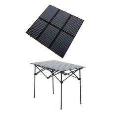 Adventure Kings 200W Solar Blanket with MPPT + Kings Portable Alloy Camping Table
