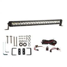 """Kings 20"""" Slim Line LED Light Bar + Wiring Harness + Sliding Brackets for Slim Line Light Bars (Pair)"""