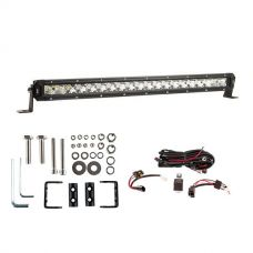 "Kings 20"" LETHAL MKIII Slim Line LED Light Bar + Wiring Harness + Sliding Brackets for Slim Line Light Bars (Pair)"