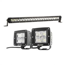 "Kings 20"" LETHAL MKIII Slim Line LED Light Bar + Adventure Kings 3"" LED Work Light - Pair"