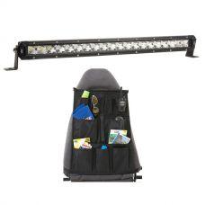 """Kings 20"""" Slim Line LED Light Bar + Car Seat Organiser"""