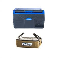 Kings 20L Fridge / Freezer + Adventure Kings Clear Top Canvas Bag