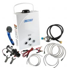 Kings Portable Gas Hot Water System | Camping Shower Water Heater | Tankless | Inc. Water Pump